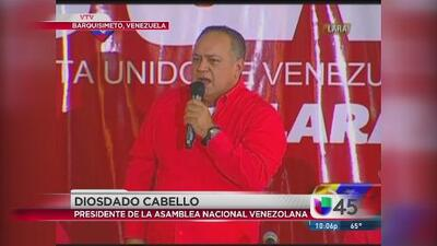 Diosdado Cabello vaticina intervención militar en Venezuela