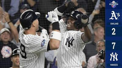 Los Yankees aplastan a los Athletics y firman enfrentamiento contra Boston