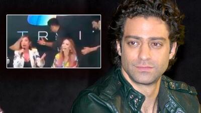 ¿Dónde quedó Ari Borovoy? El cantante sufre una caída en plena conferencia de prensa de OV7