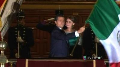 Peña Nieto da su primer Grito de Independencia