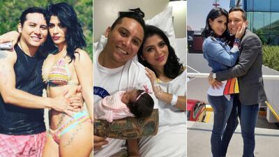 En fotos: después de que le diera una hija, Edwin Luna le propuso matrimonio a Kimberly Flores
