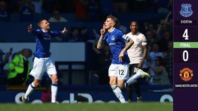 ¡Depresión post Champions! El Everton le pega goleada 'marca diablo' al Manchester United