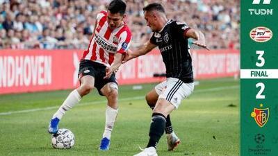 Con el Chucky y Guti de titulares, PSV venció al FC Basel en la Champions