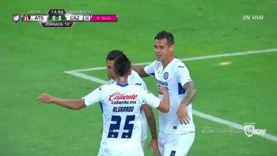 ¡GOOOL! Julio Domínguez anota para Cruz Azul