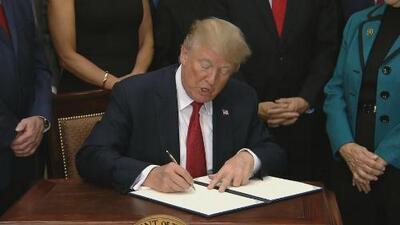 En video: Trump firma orden ejecutiva que debilita Obamacare