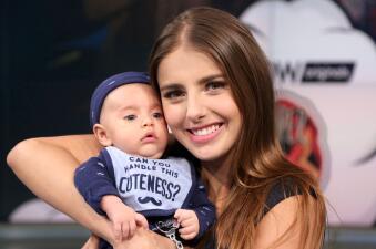 Michelle Renaud le heredó sus bellos ojos a su hijo Marcelo