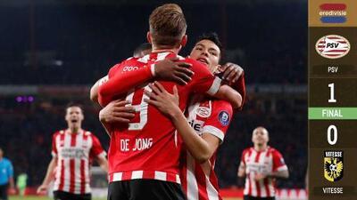PSV mantiene paso perfecto en la Eredivisie con asistencia de Lozano