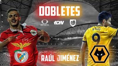 Raúl Jiménez firmó su tercer doblete en Europa