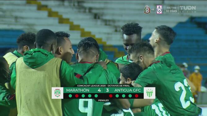Penales con los que Marathón venció 4-3 a Antigua GFC