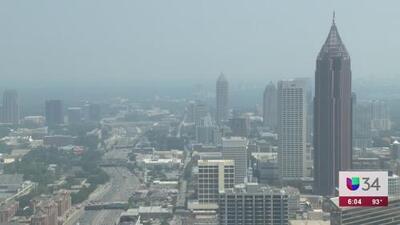 Urgen a adultos mayores a tener precaución por mala calidad del aire en Atlanta