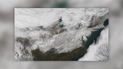 La tormenta invernal vista desde el espacio