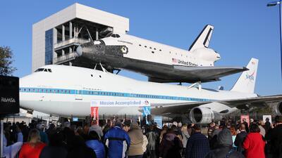 Recorrido por el interior de un transbordador espacial