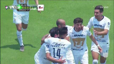 ¡GOOOL! Carlos González anota para Pumas UNAM