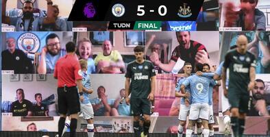 Manita del Manchester City y doblete de Salah con Liverpool