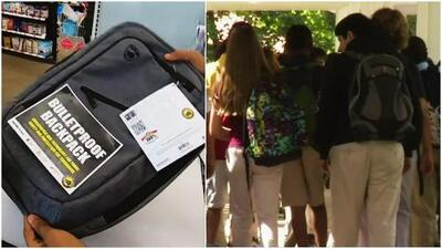 Tras tiroteos aumenta venta de mochilas antibalas