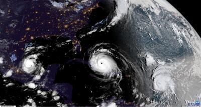 Así se ve Irma en su paso sobre Cuba (Fotos satelitales)