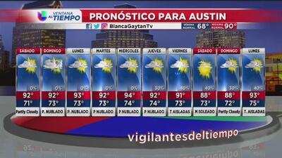 Mira las condiciones climatológicas para este fin de semana en Austin