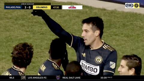 El brasileño Ilsinho fusila al portero con un trallazo y Philadelphia ya golea 3-0 a Columbus