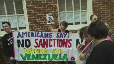 Protestors in Venezuelan embassy in Washington D.C. refuse to leave the building