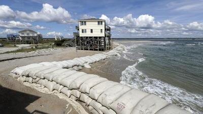 Te mostramos cómo podría subir el nivel del mar en la costa con la llegada de Florence