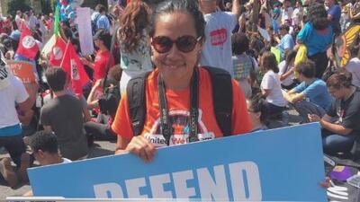 Dreamers se reunieron afuera de la Casa Blanca para escuchar anuncio de DACA