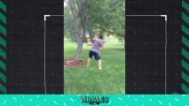 Beisbol más piñata= peligro total