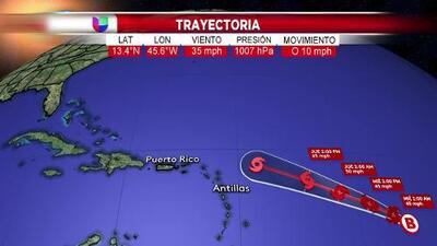 Esta es la trayectoria de la depresión tropical 10 según el pronóstico actualizado