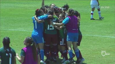Goles con los que México venció 2-1 a Canadá y se clasificó al Mundial Femenil Sub-17