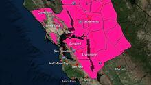 Emiten alerta por riesgo de incendios para todo el fin de semana en el Área de la Bahía