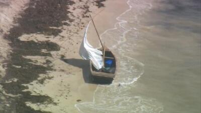 Cuatro inmigrantes cubanos llegan a playa de Virginia Key