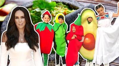 Ines Gómez Mont lleva una salsa a la fiesta mexicana de la escuela... ¡y sus niños son los ingredientes!