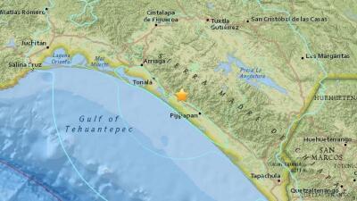 Un sismo de magnitud 6.4 sacude el sureste de México