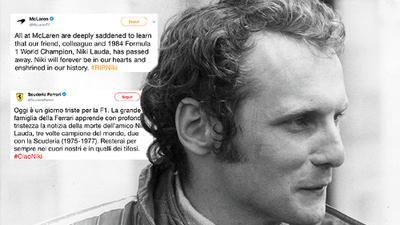 El mundo de la Fórmula 1 reaccionó al fallecimiento del mítico Niki Lauda