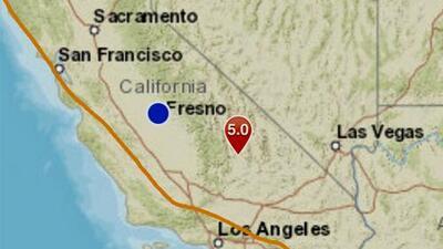 Temblor de 5.0 grados sacude región de California donde hace un mes se registraron fuertes sismos