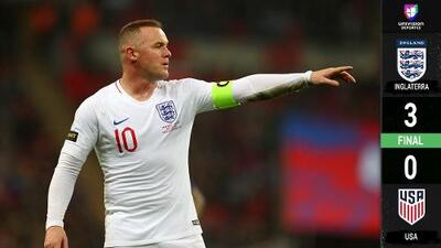Despedida de gala: Inglaterra goleó a Team USA en adiós de Rooney