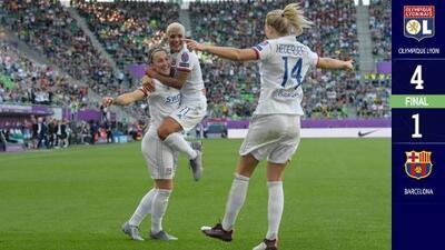 Con hat-trick de Ada Hegerberg, Lyon goleó al Barcelona en la Final de la Champions femenina