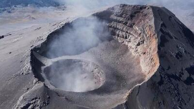 Descubren un nuevo cráter en el interior del volcán Popocatépetl en México