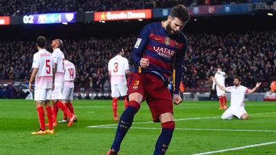 Barcelona 2-1 Sevilla: Messi y Piqué hacen que el Barça iguale récord invicto