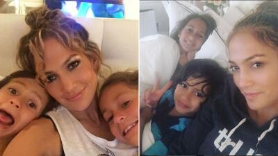 Jennifer Lopez es una mami muy cariñosa