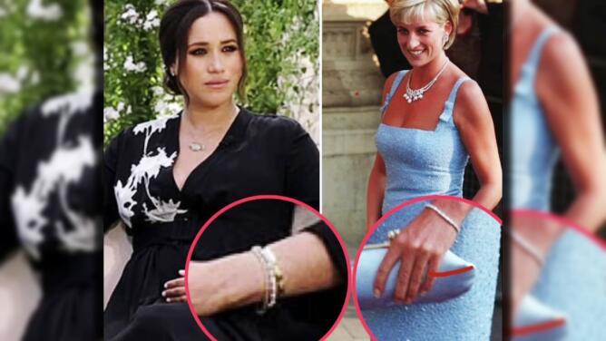 Meghan Markle eligió un brazalete de la princesa Diana para su entrevista con Oprah Winfrey