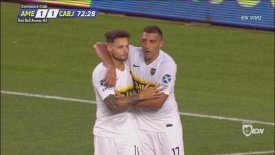 Mauro Zárate define de primera y Boca ya le dio la vuelta 2-1 al Ame