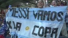 Ambientazo en el partido de Argentina vs EEUU