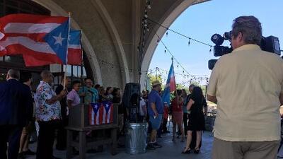 Boricuas en Chicago salen a las calles para exigir la renuncia del gobernador de Puerto Rico