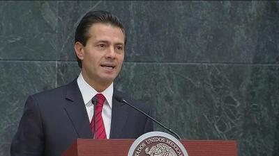 Presidente Enrique Peña Nieto felicita a Trump y asegura que velara por los intereses de los mexicanos