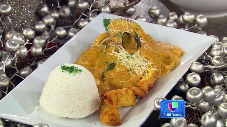 Receta Peruana De Pescado A Lo Macho Con Salsa Madre Delicioso Univision