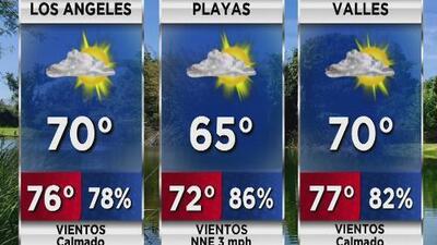Temperatura fresca y probabilidad de llovizna para este miércoles en Los Ángeles