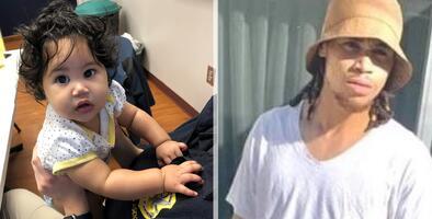 """""""Me agredió con un martillo"""": rescatan a bebé hispana de 7 meses secuestrada por su padre"""