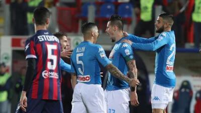 Nápoles se proclama 'Campeón de Invierno' en la Serie A de Italia