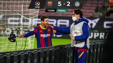 Messi comanda la goleada del Barcelona ante el Getafe con doblete