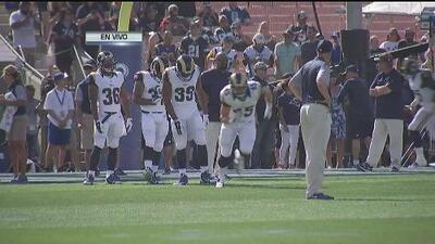 Gran ambiente en Los Angeles con el regreso de los Rams